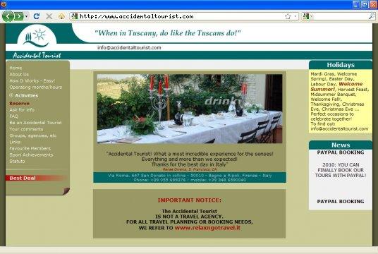 Realizzazione siti web a Firenze: sito Accidental Tourist