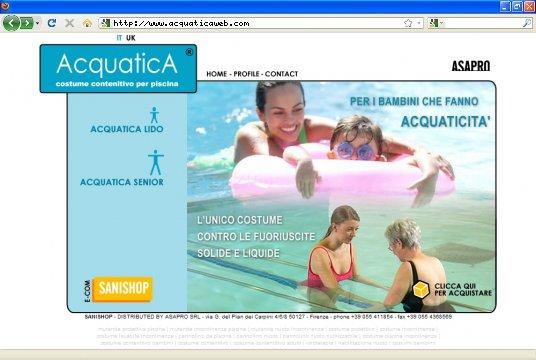Realizzazione siti web a Firenze: sito Acquatica