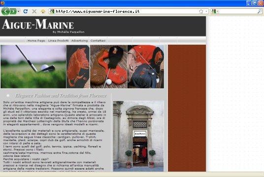 Realizzazione siti web a Firenze: sito Aigue Marine