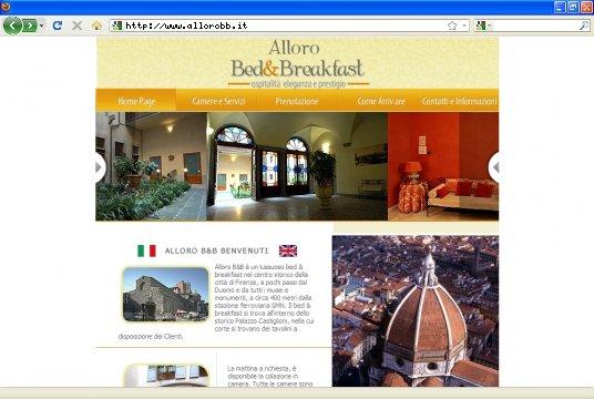 Realizzazione siti web a Firenze: sito Alloro B&B