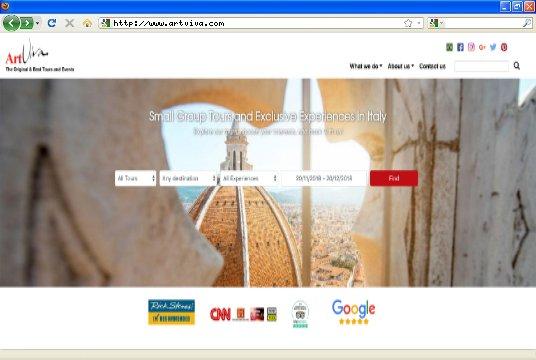 Realizzazione siti web a Firenze: sito Artviva Walking Tours Mobile