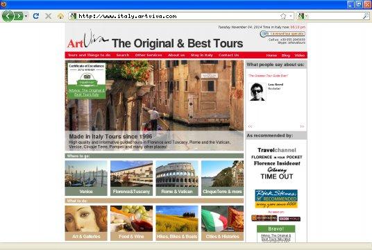Realizzazione siti web a Firenze: sito Artviva Walking Tours