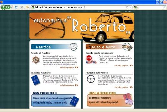 Realizzazione siti web a Firenze: sito Autonautica Roberto