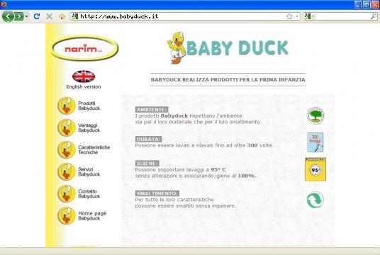 Realizzazione siti web a Firenze: sito Baby Duck