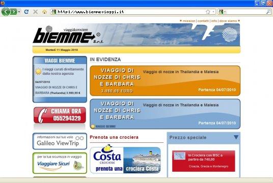 Realizzazione siti web a Firenze: sito Biemme Viaggi