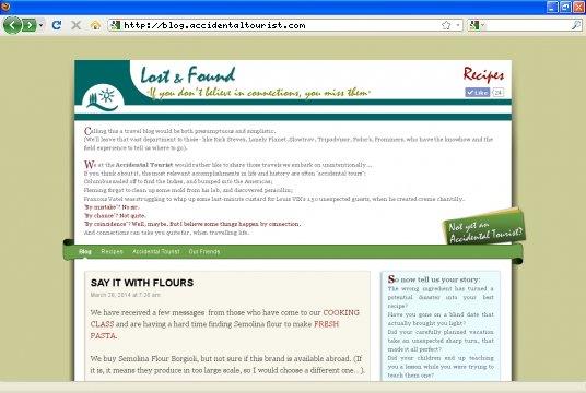 Realizzazione siti web a Firenze: sito Accidental Tourist Blog