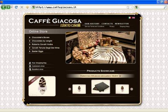 Realizzazione siti web a Firenze: sito Caffè Giacosa