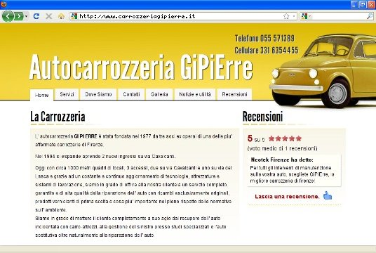 Realizzazione siti web a Firenze: sito Carrozzeria GiPiErre