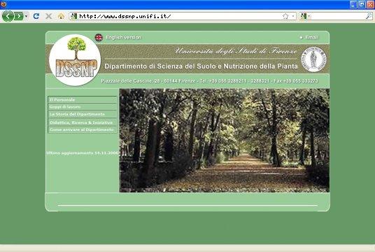 Realizzazione siti web a Firenze: sito DSSNP Unifi