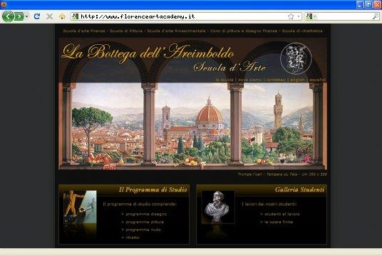 Realizzazione siti web a Firenze: sito Bottega dell'Arcimboldo
