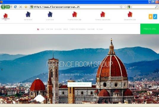 Realizzazione siti web a Firenze: sito Florence Room