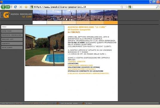Realizzazione siti web a Firenze: sito Immobiliare Le Cure