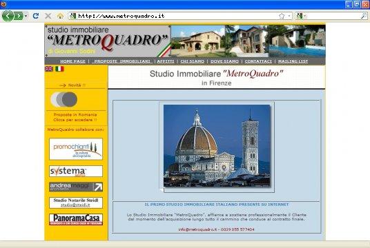 Realizzazione siti web a Firenze: sito Immobiliare Metro Quadro