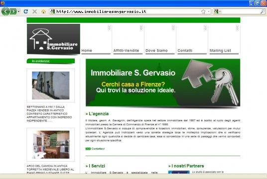 Realizzazione siti web a Firenze: sito Immobiliare S.Gervasio
