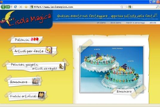 Realizzazione siti web a Firenze: sito Isola Magica