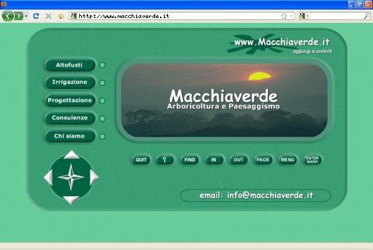 Realizzazione siti web a Firenze: sito Macchiaverde