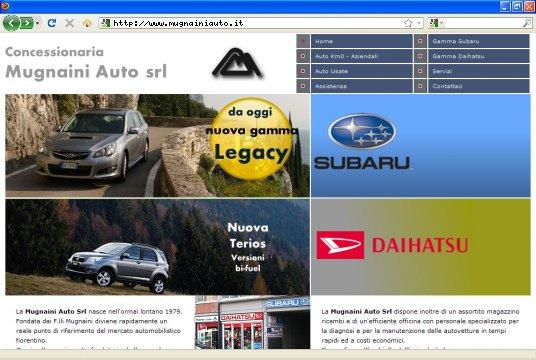 Realizzazione siti web a Firenze: sito Mugnaini Auto