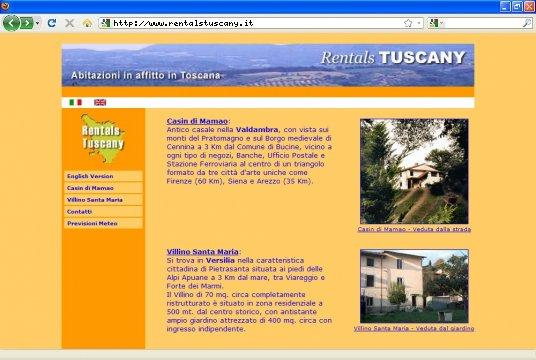 Realizzazione siti web a Firenze: sito Rentals Tuscany