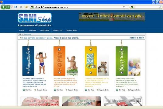 Realizzazione siti web a Firenze: sito Portale Sanishop