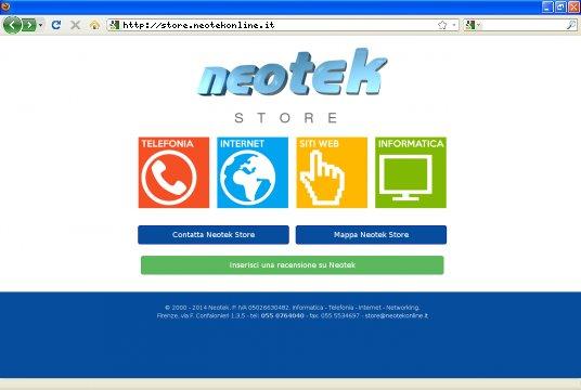 Realizzazione siti web a Firenze: sito Neotek STORE