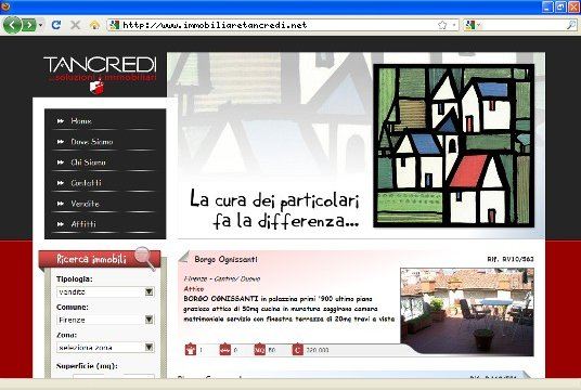 Realizzazione siti web a Firenze: sito Immobiliare Tancredi