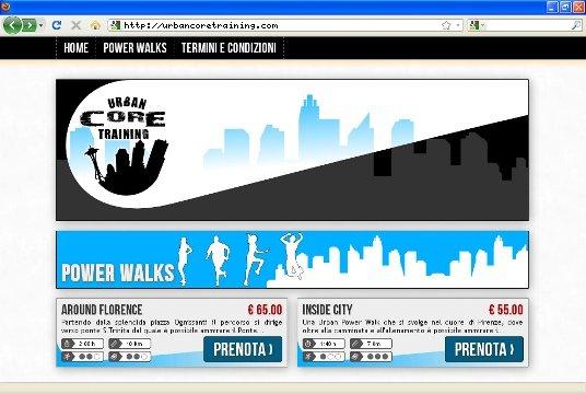 Realizzazione siti web a Firenze: sito Urban Core Training