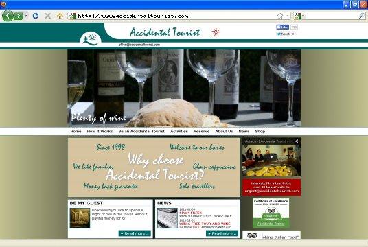 Realizzazione siti web a Firenze: sito Accidental Tourist Website