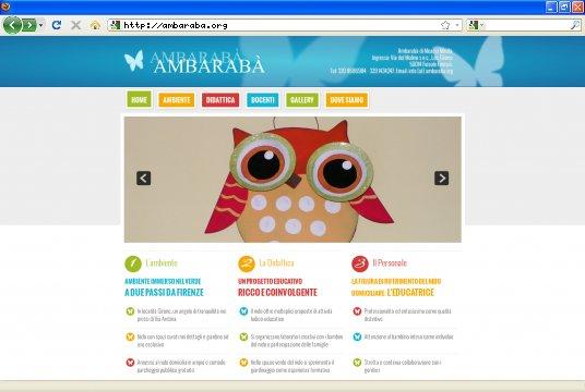 Realizzazione siti web a Firenze: sito Ambaraba